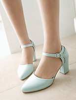 Women's Shoes Stiletto Heel Pointed Toe Pumps/Heels Office & Career/Dress/Casual Blue/Pink/Beige