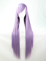 Cos Anime Bright Colored Wigs Light Purple Long  Straight  Hair Wig 80 cm