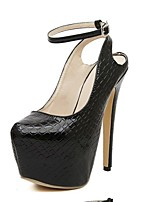 Women's Shoes Stiletto Heel Mule Pumps/Heels Casual Black/White