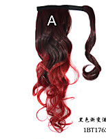 Curly Magic Paste Ombre Color Ponytail Extensions