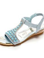 Women's Shoes Glitter/Wedge Heel Open Toe Sandals Outdoor/Dress/Casual Blue/Pink/White
