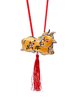 China Hand Embroidery Pendant--Twelve Zodiac Cow Plane