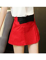 Women's Red/Black Skirts , Casual Mini