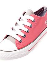 Chaussures Femme Toile Plateforme Confort/Bout Arrondi Baskets à la Mode Habillé/Décontracté Vert/Rose