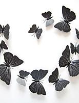 Stickers muraux mur style autocollants 3d papillon noir muraux PVC autocollants