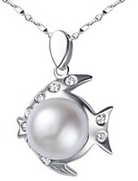 Volcano Authentic Natural Freshwater Pearl Pendants SP0550PL Pearl Necklace