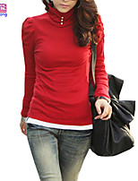 Waboats Women Long Sleeve High Collar Breasted Tunic Shirt