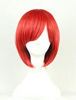 les nouvelle perruque de couleur dessin animé faceshort rouge perruques de cheveux raides