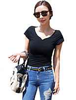 Women's Casual Stretchy Short Sleeve Regular T-shirt