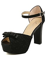 Women's Shoes Tulle Chunky Heel Peep Toe Platform Sandals Party More Colors available
