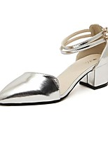 Women's Shoes Chunky Heel Heels Pumps/Heels Casual Pink/White/Silver