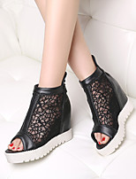 Women's Shoes  Wedge Heel Wedges/Peep Toe Sandals Office & Career/Dress Black/White