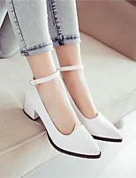 Women's Shoes  Kitten Heel Round Toe Pumps/Heels Outdoor/Office & Career/Casual Black/Purple/White