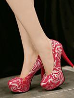 Women's Shoes Stiletto Heel Heels Pumps/Heels Wedding/Party & Evening Black/Red/White