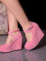 Women's Shoes  Wedge Heel Wedges Pumps/Heels Office & Career/Dress Black/Brown/Pink
