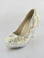 Women's Shoes Leatherette Stiletto Heel Heels Crystals Pumps/Heels Wedding/Party & Evening/Dress White