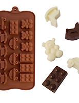 troyanos oso en forma de coche de moldes de cocción de hielo / chocolate / molde de la torta