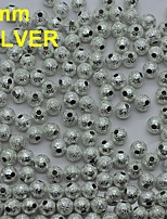 N133 100pcs/bag Silver Round Shape Metal 6mm Rhinestones with Hole Nail Art Phone Bags Decoration