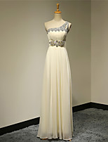 Formal Evening Dress A-line One Shoulder Floor-length Chiffon Dress