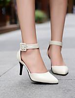 Chaussures Femme Similicuir Talon Aiguille Talons/Bout Pointu Sandales Bureau & Travail/Habillé Bleu/Rouge/Beige