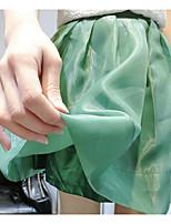 Women's Casual Micro-elastic Medium Midi Skirts (Silk)