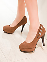 Women's Shoes Stiletto Heel Heels/Closed Toe Pumps/Heels Dress Black/Blue/Brown