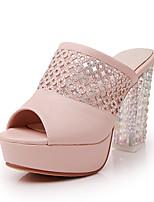 Women's Shoes Chunky Heel Peep Toe/Platform Sandals Dress Blue/Pink/White