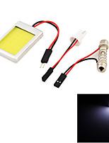 10PCS YouOKLight® T10  Festoon 12W 1100lm LED White Car Dome / Reading Light (12V)