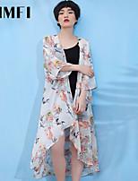 Women's Print Multi-color Blouse Long Sleeve Flower