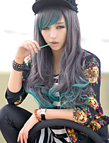 The New Cos Anime Characters Long Curly Wig Blue Gradient Character Hair Wigs