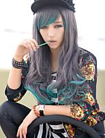 os novos personagens de anime cos peruca longa perucas de cabelo encaracolado azul caráter gradiente