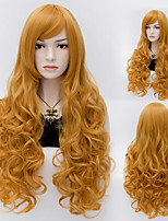 Natural Wave Blone Color Long Hair Wigs Synthetic Hair Wigs Fashion Style