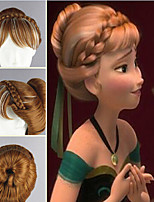 New Arrival Heat Resistant Synthetic Wig Brown Mix White Anime Cosplay Wigs Frozen Princess Anna Wig