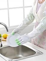 1-Pair Waterproof Cleaning Gloves Dishwashing Gloves Laundry Gloves Random Color