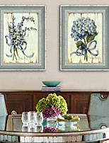 E-HOME® Framed Canvas Art, A Bunch of Flowers Framed Canvas Print Set of 2