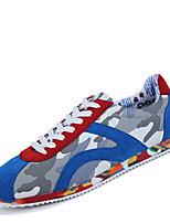 Scarpe da uomo - Sneakers alla moda - Tempo libero - Finta pelle - Nero / Blu
