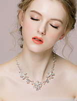 Women's Alloy/Rhinestone/Imitation Pearl Necklace Wedding/Engagement/Special Occasion Rhinestone