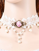 Fashion Pink Rose Pearl  Necklace
