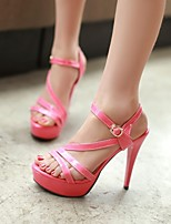 Women's Shoes Stiletto Heel Open Toe Sandals Party & Evening/Dress Black/Yellow/Pink/Red/White