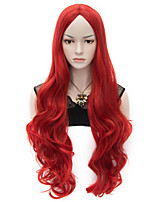 80cm U Party Curly Cosplay Party Wig Multi colors available Red