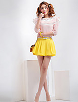 Women's Casual/Work Micro-elastic Medium Mini Skirts (Chiffon)