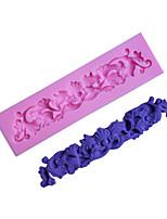 utensilios para hornear de silicona patrón de vid decoración molde de la torta del molde fondant