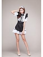 Vêtement de nuit Femme Jarretelles & Bretelles/Lingerie en Dentelle/Uniformes & Tenues Chinoises Dentelle/Organza/Soie Glacée