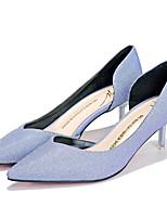 Women's Shoes  Kitten Heel Heels/Pointed Toe/Closed Toe Pumps/Heels Dress/Casual Black/Blue/Gold