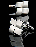 Toonykelly® Fashion Silver Plated Square Men Shirt Cufflink Button(1 Pair)