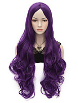 80cm U Party Curly Cosplay Party Wig Multi colors available Purple