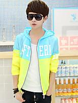 SENLEIS®Men's Casual Plus Sizes Print Long Sleeve Regular Jacket (Polyester)