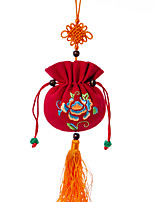 China Hand Embroidery Pendant-- Sachets (Red)