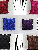 Creative 3D Rose Pillowcase Sofa Home Decor Cushion Cover (16*16 inch)