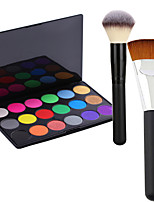 Pro Party 18 Colors Eyeshadow Matt Earth Color Makeup Palette + 2Powder Brush